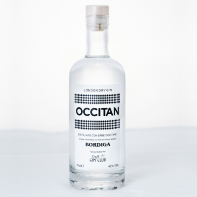 Occitan gin bottle from Italy