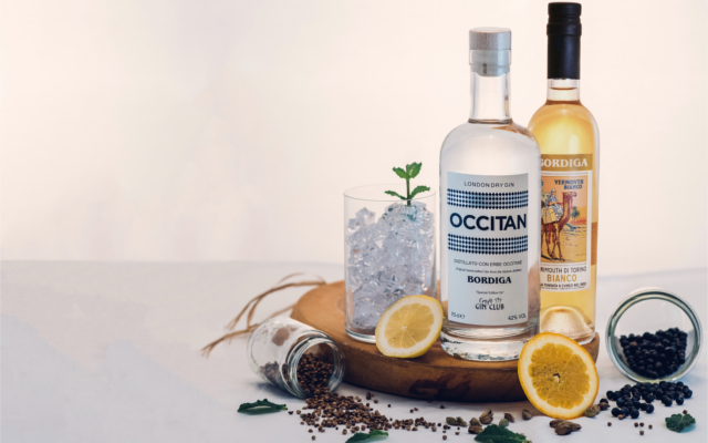 Occitan Gin and Bordiga Vermouth with botanicals