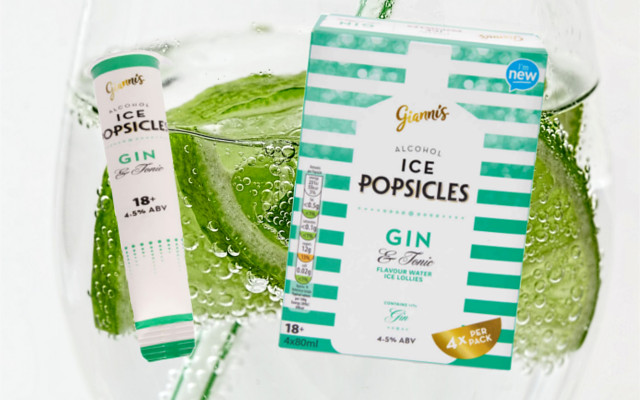 Aldi Gin and Tonic Popsicles