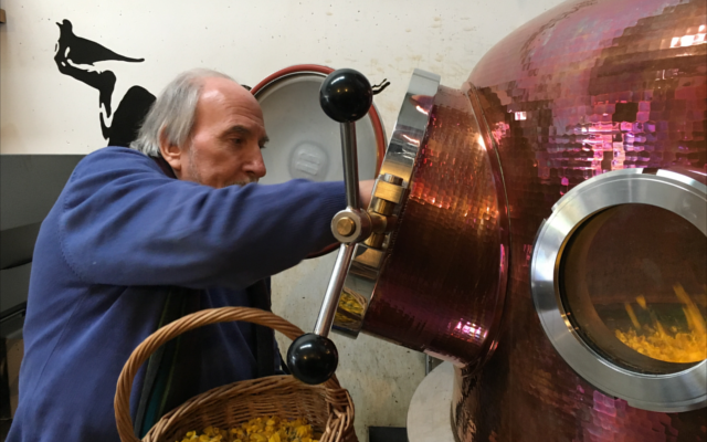 Glendalough copper gin still adding botanicals
