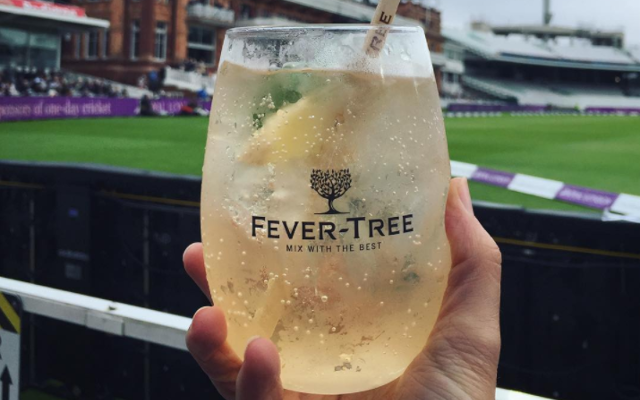 Fever tree vermouth and tonic at the cricket