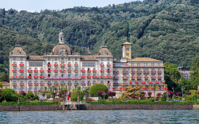 Italy Stresa resort on Lake Maggiore