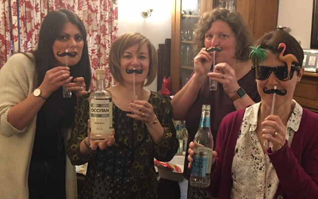 May Ginstagram runner up occitan gin and vermouth silly moustaches