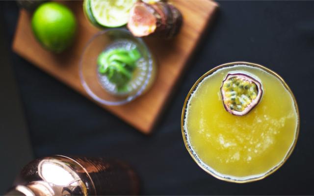 Sunflower cocktail passionfruit pornstar martini