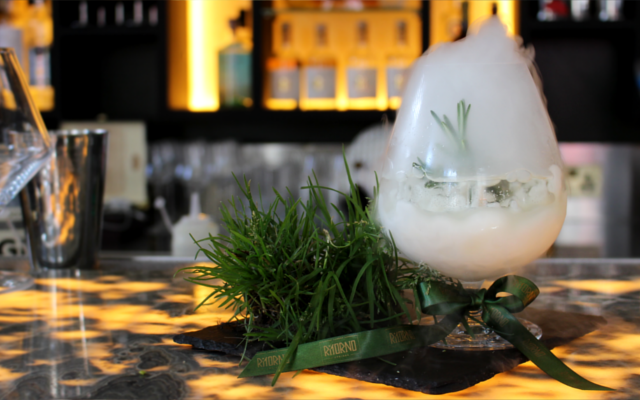 Ritorno Alphino Occitano Gin Cocktail Smoking cocktail