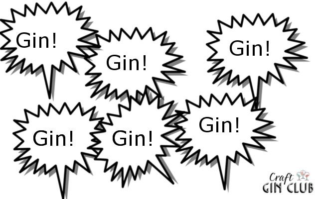Gin speech bubbles