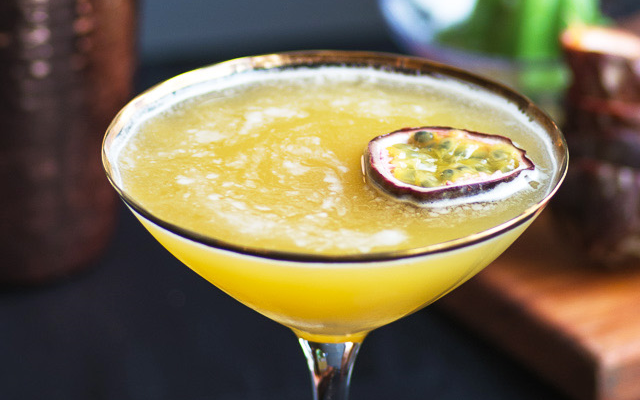 The Sunflower Gin Cocktail Passionfruit Pornstar Martini
