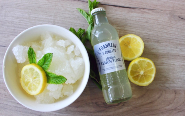Lemon and Franklins lemon tonic granita