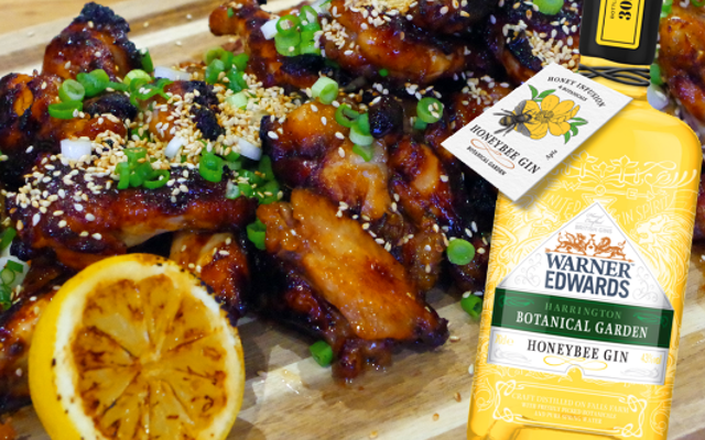 Warner Edwards Honeybee Gin and Honey chicken wings for a summer bbq