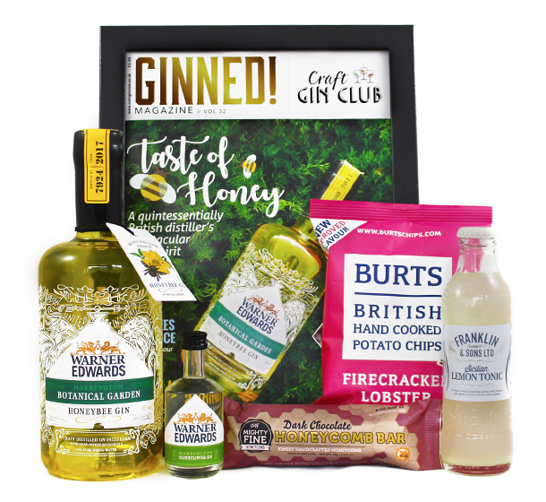 Craft Gin Club June Gin of the Month Box Warner Edwards Honeybee Gin