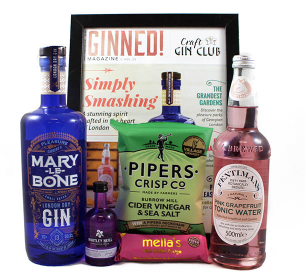 Craft Gin Club July Gin of the Month Box Marylebone Gin