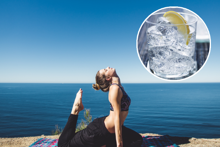 Gin and tonic yoga by the sea