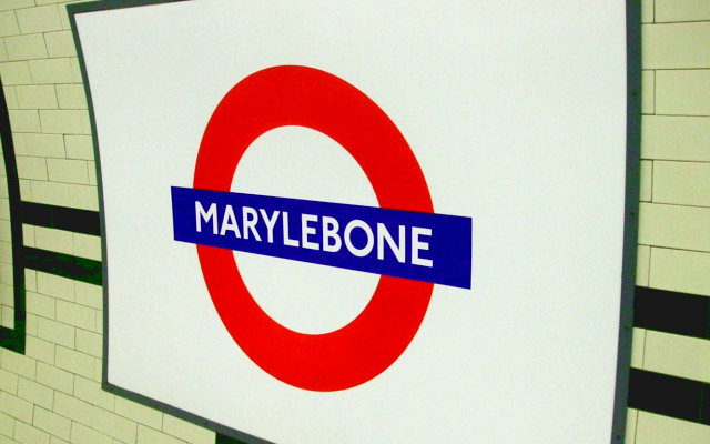 Marylebone Bakerloo London Underground Tube Station Sign