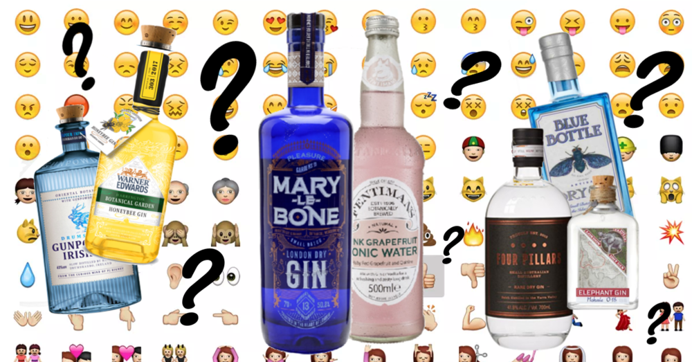 World emoji day quiz pink grapefruit tonic gins