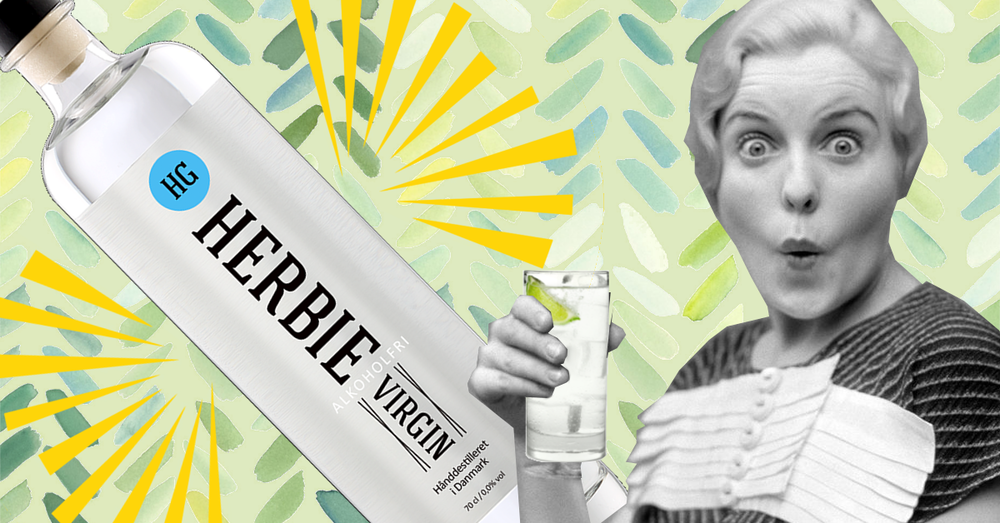 herbie virgin non alcoholic gin vintage picture