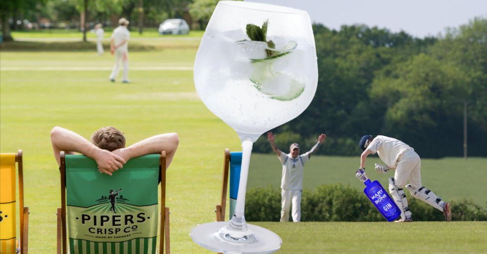 pipers crisp company deckchairs a gin and tonic and cricket is the perfect summers day