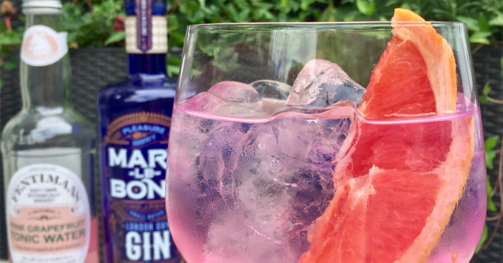 Fentimans Pink Grapefruit Gin Tonic over ice