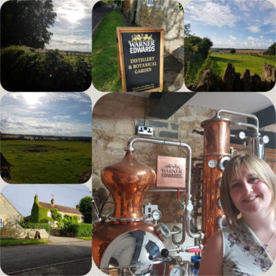June winner Laura at Warner Edwards distillery