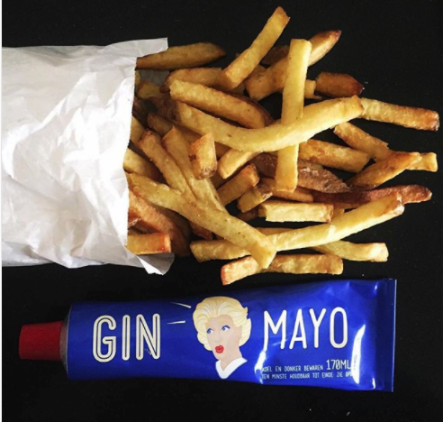 Gin Mayo and oven chips delicious dutch food