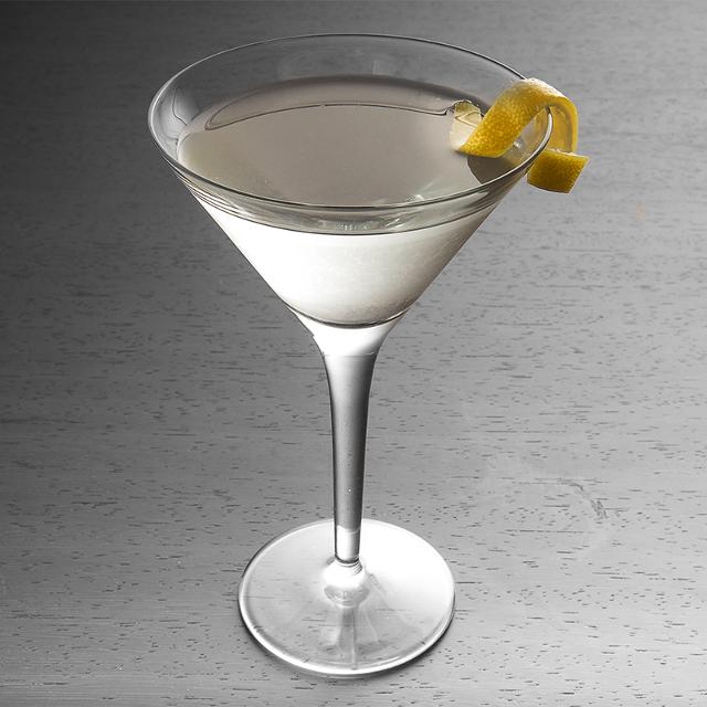 Martini with a twist of lemon