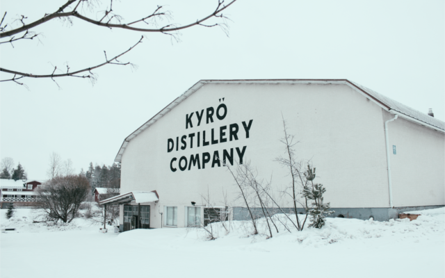 Kyro Distillery in the snow