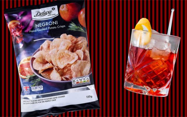 Negroni-flavoured crisps
