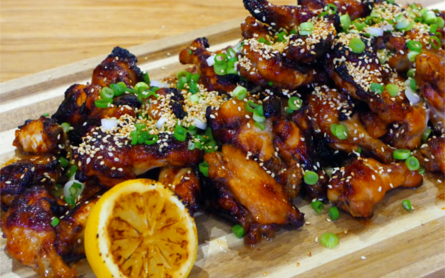 Gin Honey BBQ wings