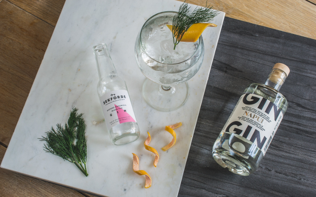 Sekforde and Kyro Napue Gin Gin and Tonic with orange and dill