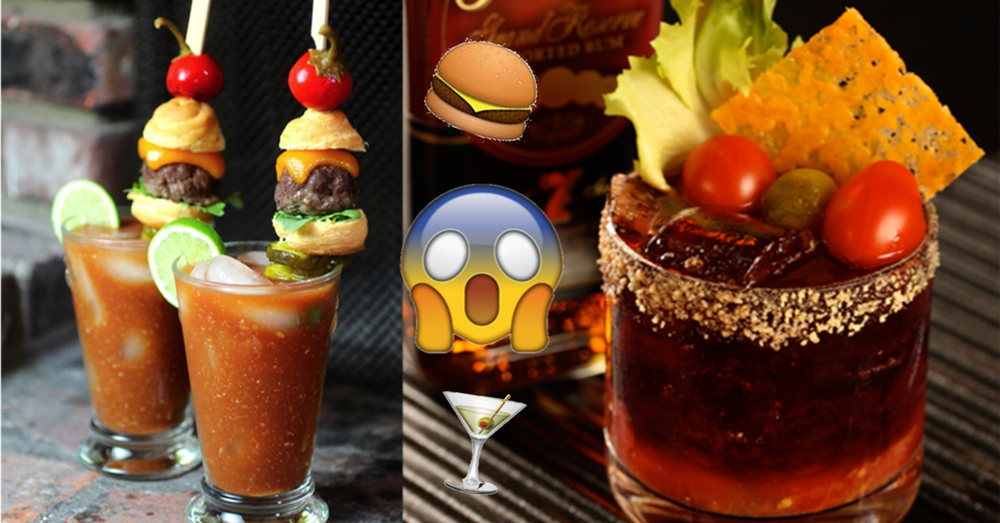 National Burger day cocktails cheeseburger bloody mary whisky