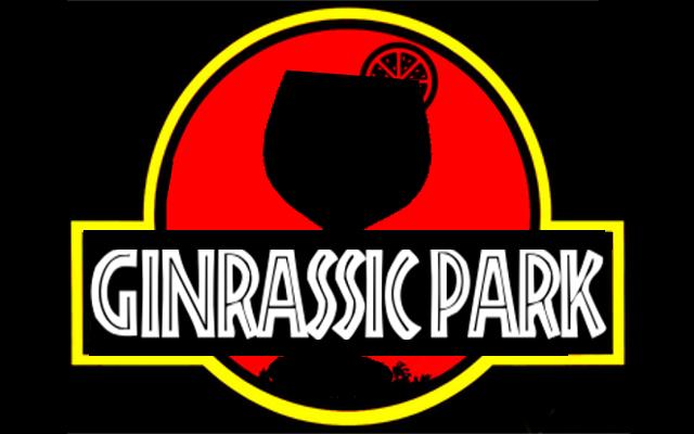 Jurassic Park gin parody