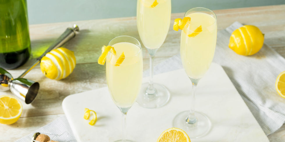 French 75 champagne and gin cocktail