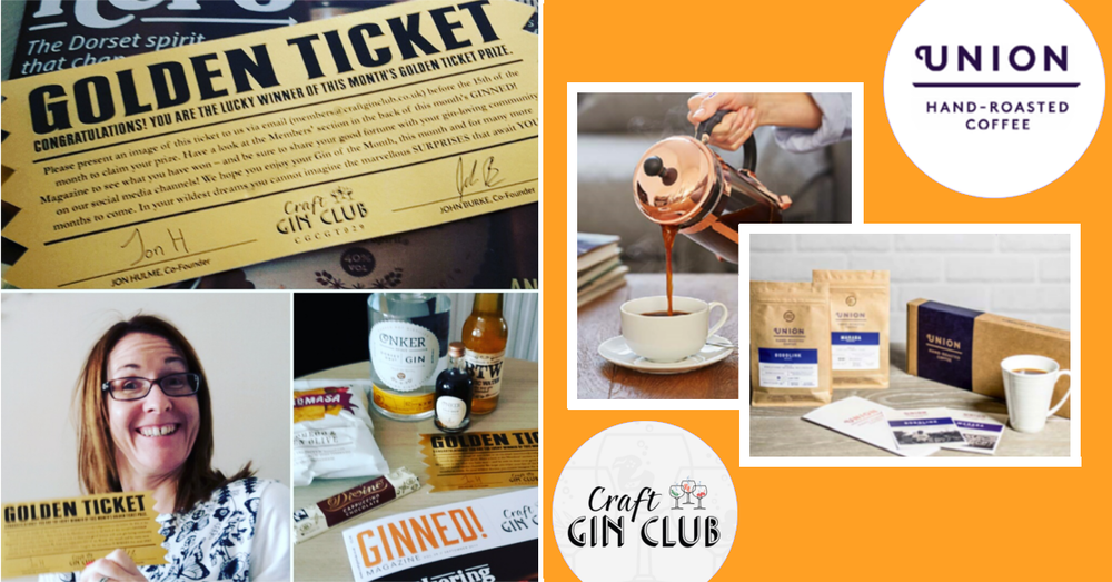 craft gin club golden ticket winner union coffee conker gin