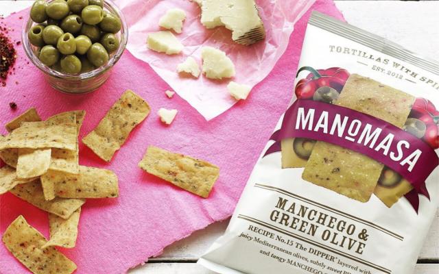 Manomasa Manchego Green Olive tortilla crisps