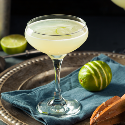 Lime gin gimlet cocktail