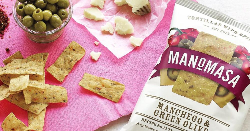 Manomasa Manchego & Green Olive tortilla chips