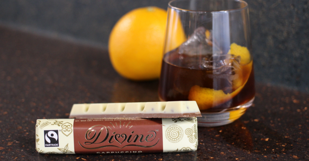 Divine Cappuccino chocolate bar gin coffee cocktail