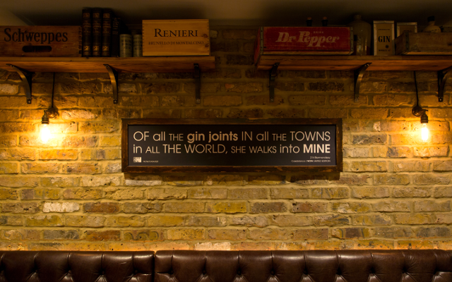 214 Bermondsey bar sign