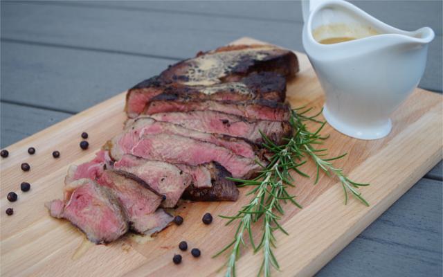 Rump steak with Conker Gin sauce