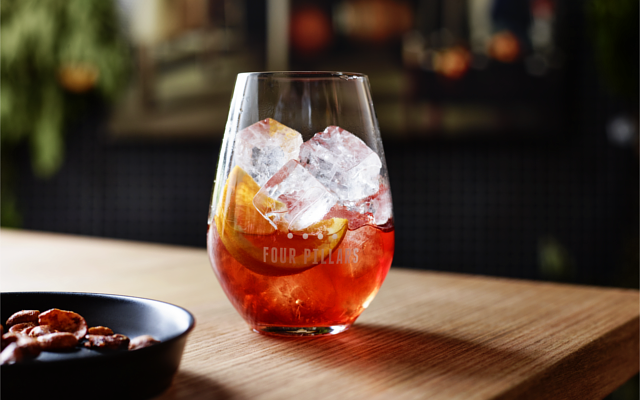 Four Pillars Gin Negroni cocktail
