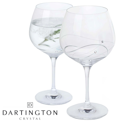 Glitz Gin and Tonic Copa Glasses Pair Dartington Crystal