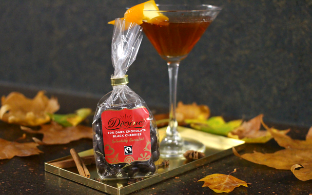 Fallen Negroni gin cocktail with Divine Chocolate