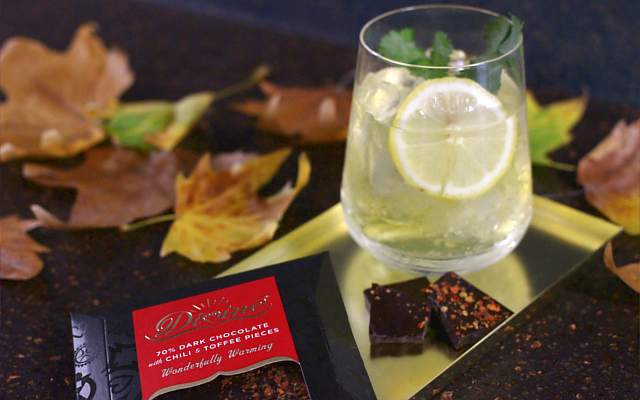 A Chill in the Air gin cocktail with Divine Chocolate