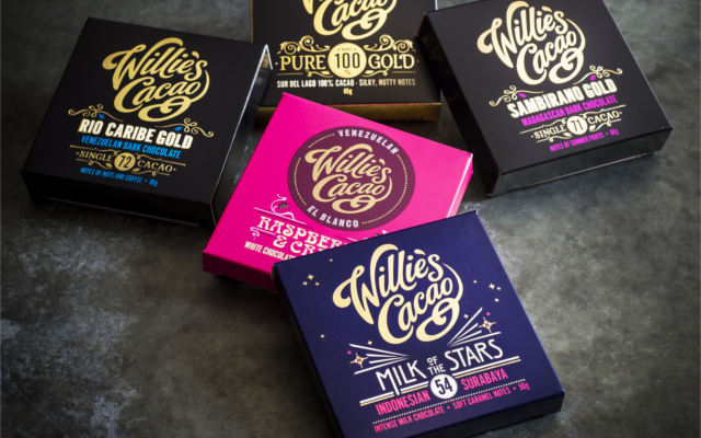 Assorted Willie's Cacao chocolate bars