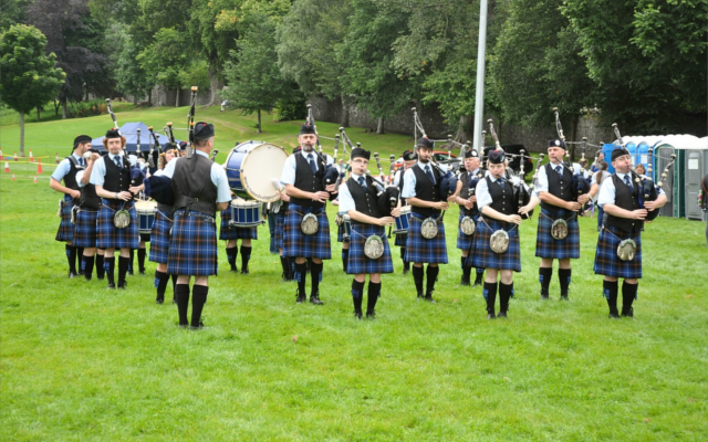 Scottish piping band