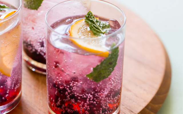Blackberry Lemon Gin Tonic