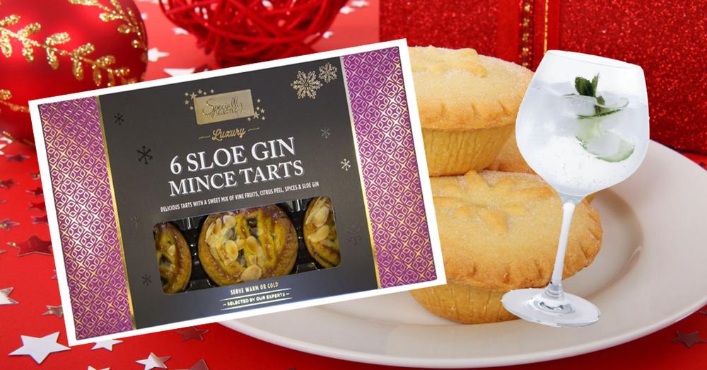 Aldi sloe gin Christmas mince pies