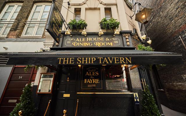Outside the Ship tavern pub London