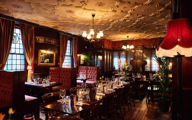 Inside the ship tavern pub in London