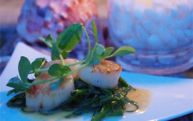 Lighthouse Gin Scallops recipe