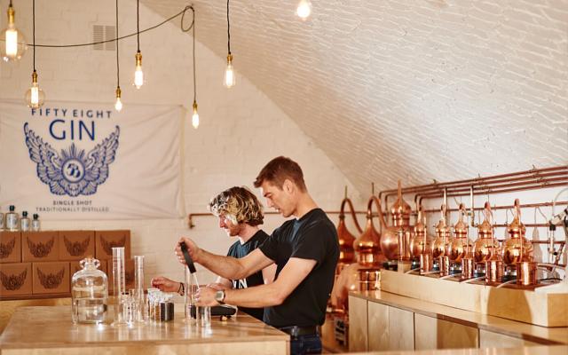 58 Gin Distillery interior